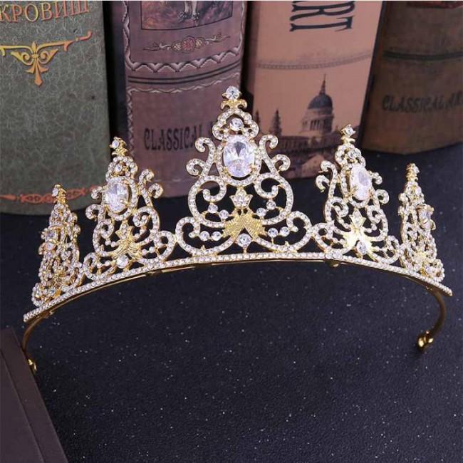 Luxury Rhinestones Bridal Bride Tiara Crowns Diadem Queen Princess Headdress Headband Women Wedding Hair Jewelry