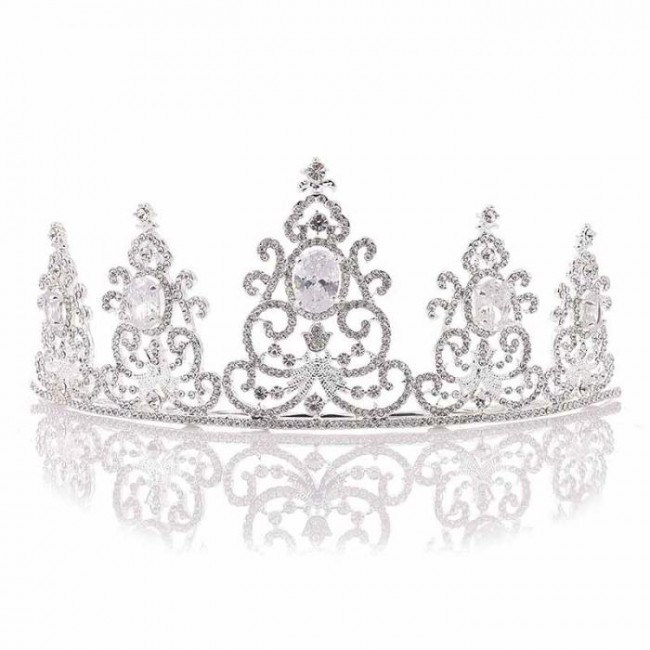 Luxury Rhinestones Bridal Bride Tiara Crowns Diadem Queen Princess Headdress Headband Women Wedding Hair Jewelry