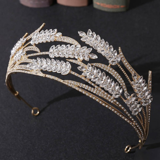 Bling Crystal Rhinestone Tiaras Crowns Headbands Women Bride Bridesmaid Wedding Hair Jewelry