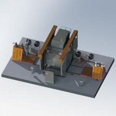 Shuttle Rotomolding Machine