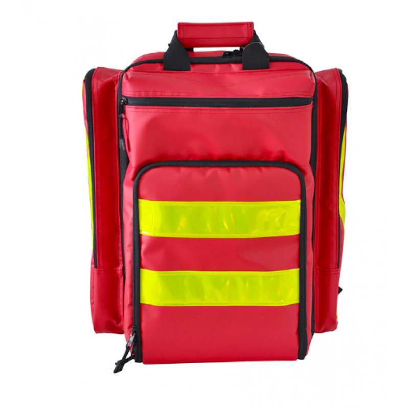 Red Nylon Big Size Emergency First Aid Backpack