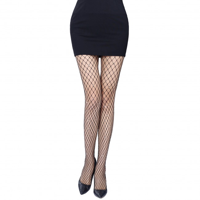 Women Sexy Fishnet Black Pantyhose