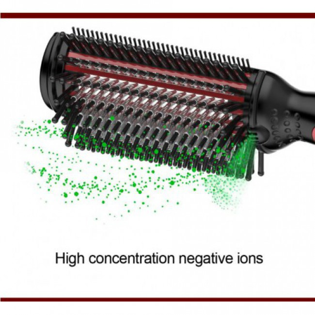 4-In-1 Professional Anion Care Hair Straightening Curling Brush