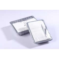 Airline dry wipe in tray,alirline tray disposable tissue