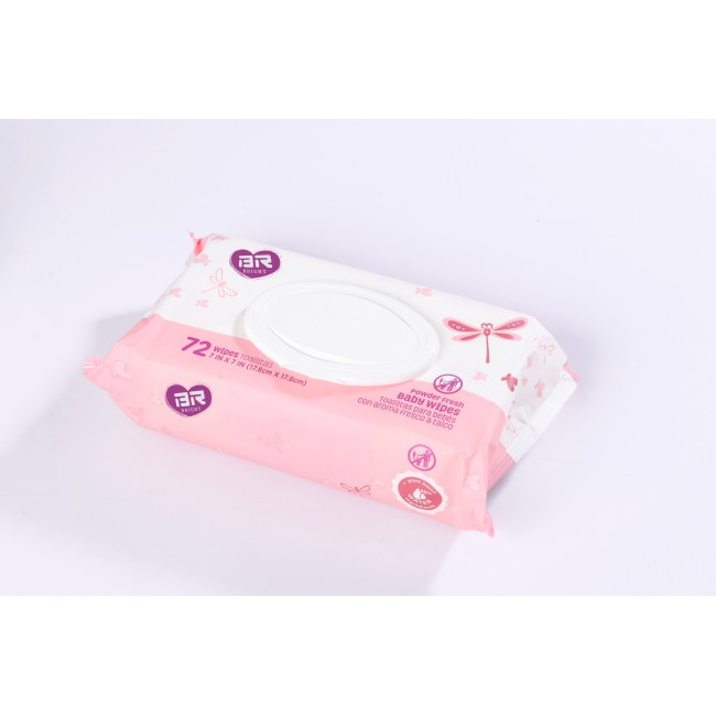 72pcs Baby Wipes With Plastic Lid Fragrance Free