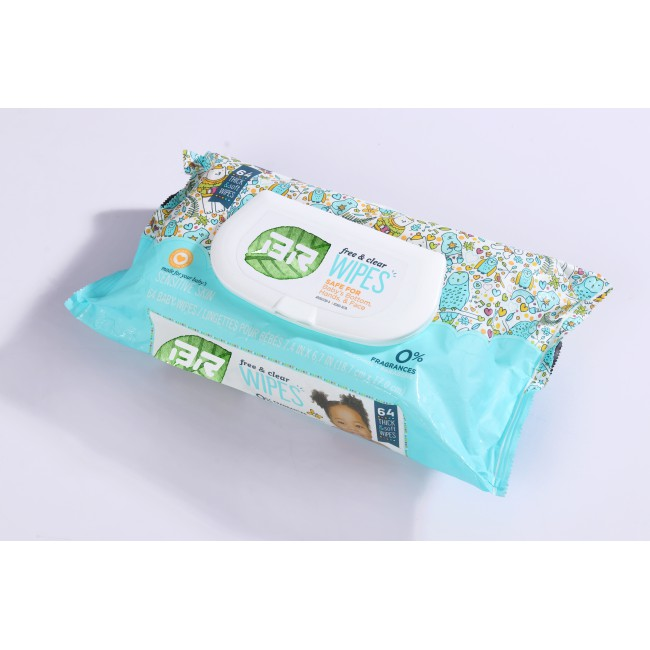Cotton Baby Wipes 50pcs per Pack with Aloe Vera