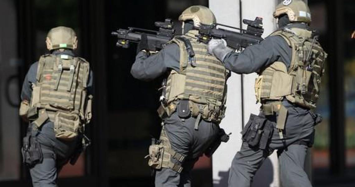 Bulletproof helmet for the German Federal Police Ninth Border Guard Group GSG 9