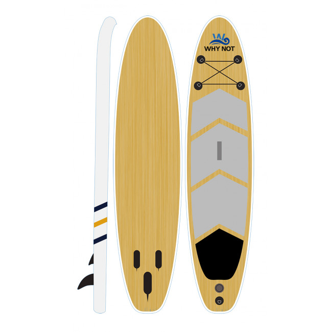 Kudooutdoors 3.05m Inflatable Wood Grain Inflatable  Paddle Board