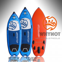 Kudooutdoors 8'6''/9'6''White Water/DownRiver Inflatable Paddle Board
