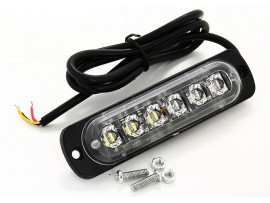 Super thin 6 LED strobe grille warning light