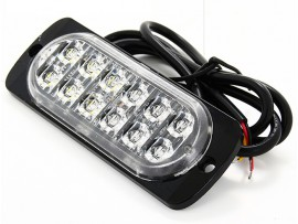Super thin 12 LED strobe grille strobe light
