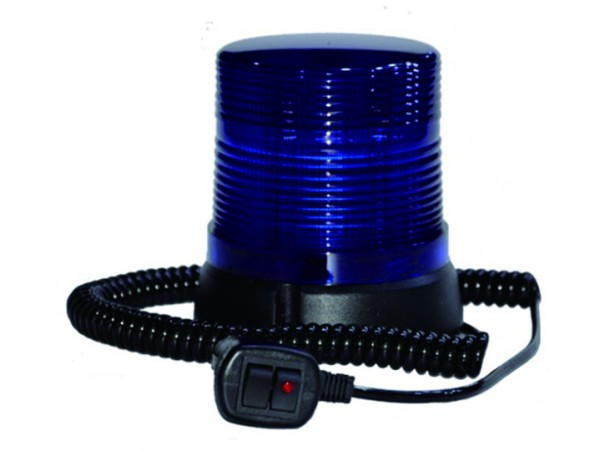 Blue magnetic strobe roatating beacon LED