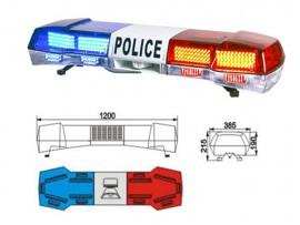 Car Red blue LED police lightbar