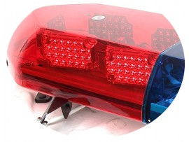 LED police v shape lightbar with siren speaker