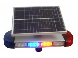Solar traffic safety warning flashing mini led light bar with bolts mounting pipe