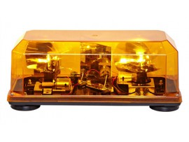 Federal signal amber highlighter halogen mini rotator lightbar