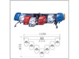 Halogen V type warning light bar No.TBD-GRT-020