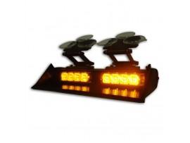8W LED Amber automotive led emergency lights No.ZXGXT-402