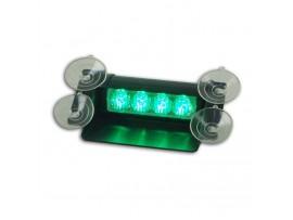 4W LED Visor Light LED Strobe light Warning light Green No.ZXSL-SV34