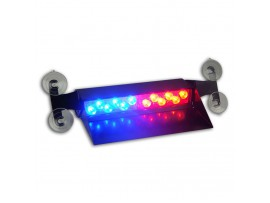 12W LED Auto LED Strobe Light with suction cups Blue Red ZXSL-V661