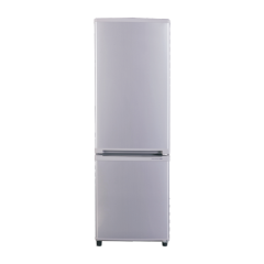 138L Down Mounted Double Doors Silver Refrigerator