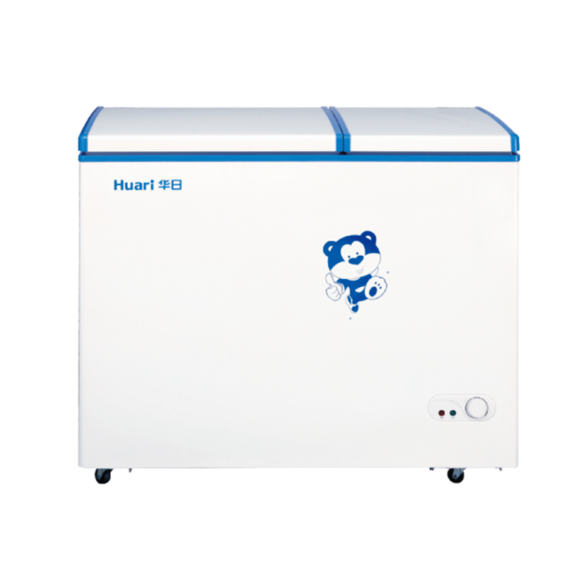 193L Metal Manual Defrost Double Doors White Chest Freezer