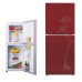 200L Direct Cooling Classical Pattern Drawing Glass Panel Colorful Refrigerator