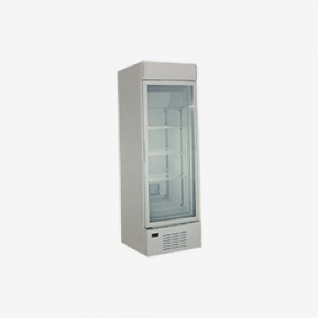 218L Transparent Anti-Frost Double Layers Glass Showcase with Lock