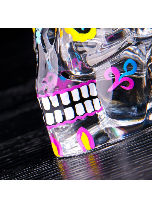 Day of the dead Skull Glass