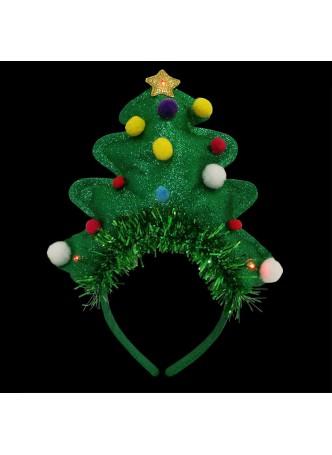 Light Up X-Mas Tree Headband Costume