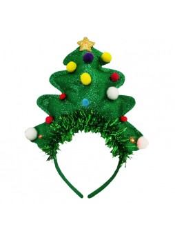 Light Up X-Mas Tree Headband Costume