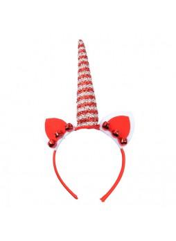 Christmas Decoration Glitter Unicorn Headband With Ears