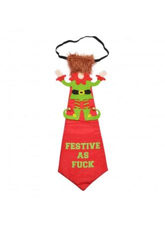 Christmas Decoration GOOD JOKE RED TIE