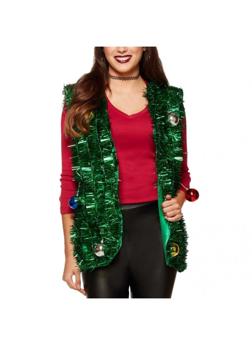 Green Tinsel Ugly Christmas Vest