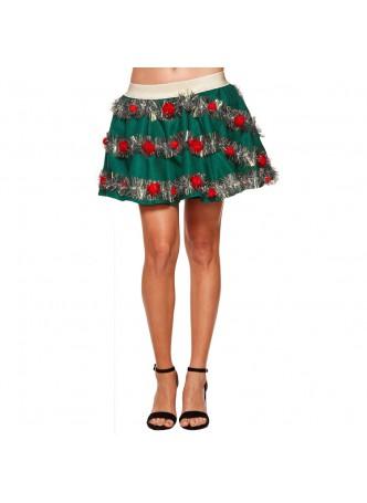 Light Up Christmas Garland Skirt