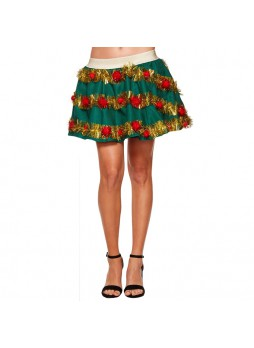 Light Up Christmas Garland Skirt