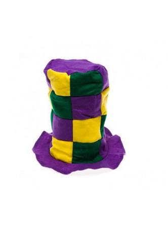 Mardi Gras Checkered Stovepipe Hat