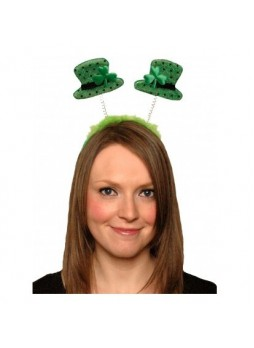 FANCY DRESS IRISH SHAMROCK LEPRECHAUN HAT GLASSES BOPPERS4
