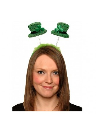 FANCY DRESS IRISH SHAMROCK LEPRECHAUN HAT GLASSES BOPPERS4