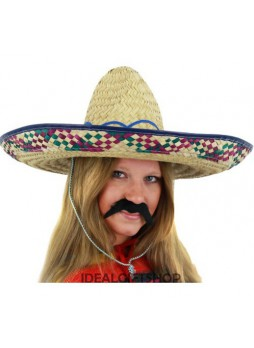 LADIES MEXICAN SOMBRERO HAT & TASH SET HEN PARTY HOLIDAY FANCY DRESS WILD WEST