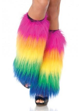 Halloween Costume Accessory Fur Trim Leg Warmer