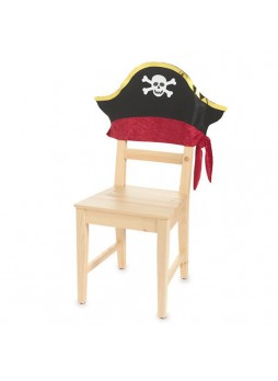 Halloween Pirate Skull Chair Cover