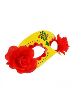 Set of Masquerade Day of the Dead Masks! 4 Bright Colors - Hand Drawn!