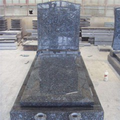 Blue pearl  granite monument tombstone