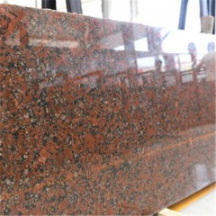 Santiago red granite slabs