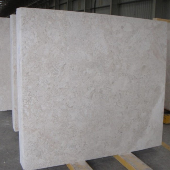 Delicant cream marble slabs