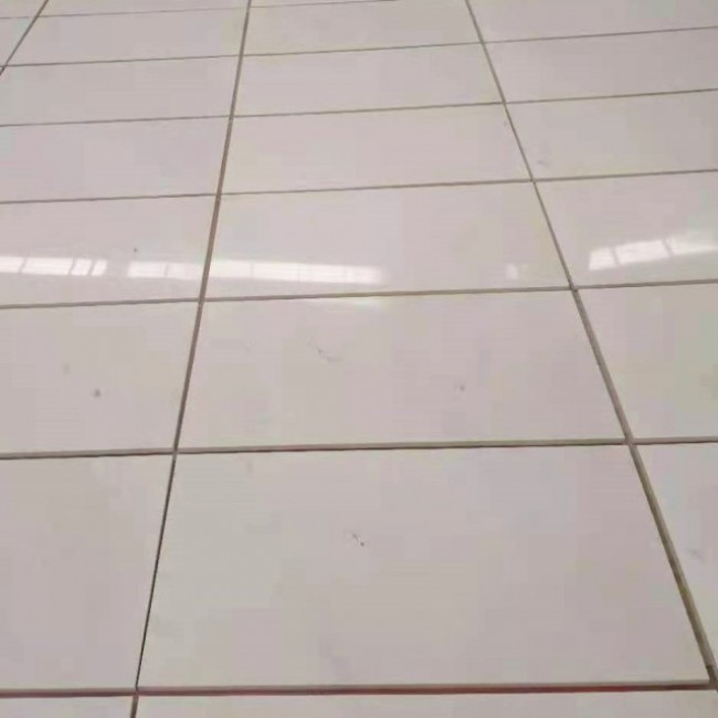 Snow white marble floor tiles