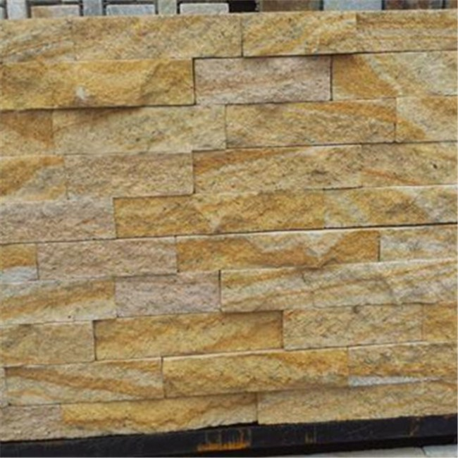 Natural split yellow sandstone wall cladding