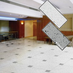 Artificial marble floor tiles