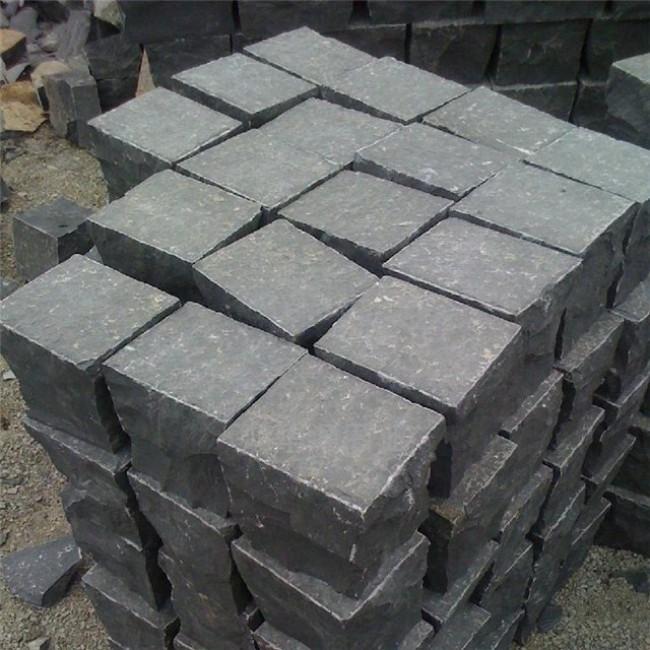 Flamed paver basalt stone  paving